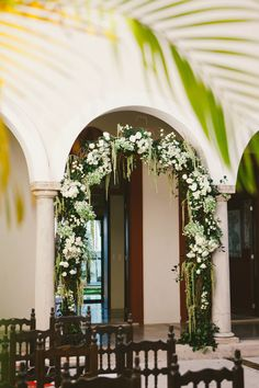 Hacienda de Mar courtyard | Mexican Wedding, Riviera Maya, Hacienda Wedding, Beach Wedding, Destination Wedding, Hacienda del Mar, Hacienda Corazon, Puerto Aventuras, Vintage Wedding, Mexico