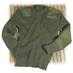 Used British Military Surplus Wool Sweater. I have one and it's amazingly warm!!