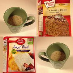 Angel Food Caramel Cake in a cup Points - Weight Watchers Points Plus… Ww Desserts, Dessert Recipes, Dessert Ideas, Pecan Pie Cake, Pecan Pies, Mug Recipes, Cake Recipes, Dessert In A Mug, Desert Recipes