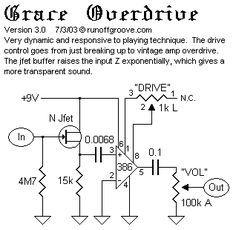 Grace, v3 Diy Guitar Pedal, Guitar Pedals, Dc Circuit, Circuit Diagram, Cigar Box Guitar, Music Guitar, Diy Electronics, Electronics Projects, Electronic Engineering