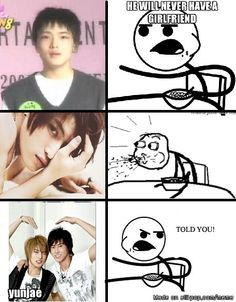yunjae jaejoong. Awh. Jaejoong has always been adorable.