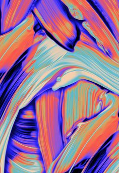You'll look like a work of art when draped in Sam Chirnside & Emily Gillis's 'Same Silks. Contemporary Abstract Art, Abstract Images, Wallpaper Backgrounds, Colorful Wallpaper, Iphone Wallpapers, Wallpaper Patterns, Silk Painting, Abstract Photography, Types Of Art