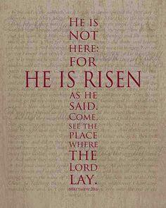 Jesus is LORD! He is risen!