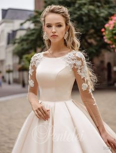 50 Modern Gowns Ideas For A Valentine'S Day Wedding is part of Princess wedding dresses - If you are planning a Valentine's Day wedding, You don't want to ruin your wedding by creating dress stress for […] Princess Wedding Dresses, Modest Wedding Dresses, Bridal Dresses, Wedding Gowns, Dress For Wedding, Prom Dresses, Wedding White, Long Dresses, Fall Wedding
