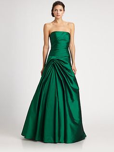 Perfect for a black tie holiday event at the Waldorf! ML Monique Lhuillier - Strapless Taffeta Gown - Saks.com