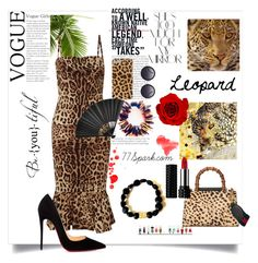 Animal Instinct by shop77spark on Polyvore featuring polyvore, fashion, style, Dolce&Gabbana, Christian Louboutin, Gucci, Alice + Olivia, Kat Von D, Rika and clothing #77Spark#petrifiedwood#woodchips#stretch#bracelet#spiritual#protection#fashion#brown#handcrafted#pretty#contemporary#special#madebyme#lava#beadedbracelet
