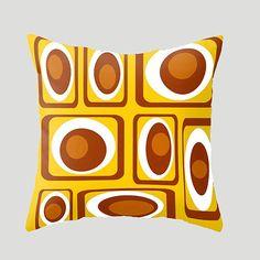 Modern Pillow Yellow  Pillow Mid Century Modern by crashpaddesigns