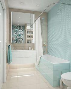 Мятная ванная комната