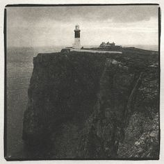 Lighthouse, Donegal, Ireland (lith print)