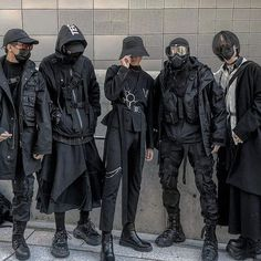 Tag your squad! Edgy Outfits, Mode Outfits, Grunge Outfits, Fashion Outfits, Fashion Tips, Fashion Trends, Fashion Lookbook, Modest Fashion, Mode Cyberpunk