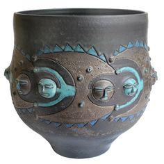 Edwin and Mary Scheier Pottery Vase