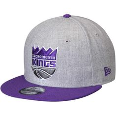 on sale f01d3 8ee8b Men s New Era Heathered Gray Purple Sacramento Kings 2-Tone 9FIFTY  Adjustable Snapback Hat