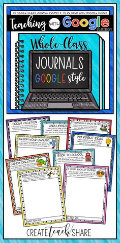 Whole-Class Writing Journals are perfect way for students to share their writing with their classmates. This google edition works with google slides and comes with 30 journal prompts. Perfect for the upper elementary classroom!!