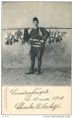 Turkey, Djierdji, Poultry Street Vender, petits metiers , PU-1902