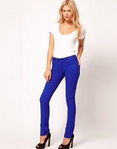Enlarge ASOS Skinny Jean in Bright Blue #4 $47.68