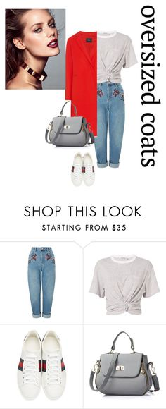"""Untitled #55"" by hala-363 ❤ liked on Polyvore featuring Miss Selfridge, T By Alexander Wang, MO&Co. and Gucci"