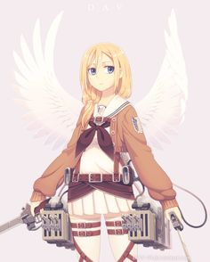 "Goddess~ Christa Renz (Historia Reiss) from ""Shingeki no Kyojin"" I mixed military and school uniform"