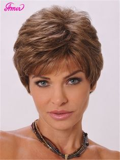 Natural straight short pixie cut hairstyle Blonde Wig side bangs Synthetic hair wigs for Women discount wigs pelucas pelo corto Cute Hairstyles For Short Hair, Wig Hairstyles, Curly Hair Styles, Short Haircuts, Pretty Hairstyles, Hairstyles 2018, Popular Haircuts, Short Grey Hair, Short Hair With Layers