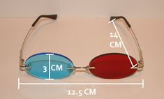 Standard Red and Blue 3D Oval glasses. by Akujinscos on Etsy