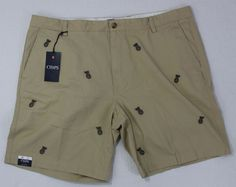 Chaps Men's Biege with Pineapples Sz 42 Shorts NWT #Chaps #CasualShorts