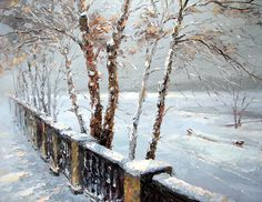 Winter day. High Quality Print on Canvas Dmitry by spirosart