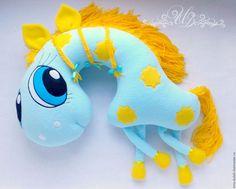 Купить Подушка Пони Соня - бирюзовый, подушка, подушка в автомобиль, подушка-игрушка, подарок