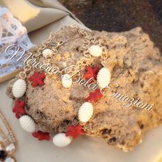 Collana e bracciale con stelle marine rosse... #MerceriaDolciEmozioni #HandmadeCreations #HandmadeInspiration #starfish #SeaBijoux