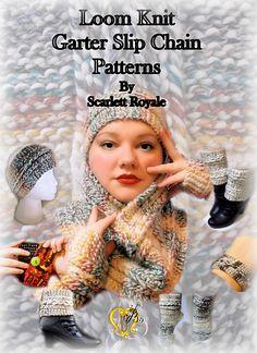 http://www.ravelry.com/patterns/sources/loom-knit-garter-slip-chain-patterns/patterns