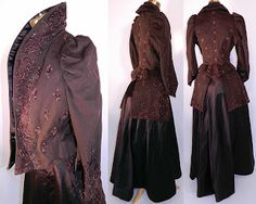 1890's Purple Outfit with Awesome Collar- I am in love with the detail and cut and color