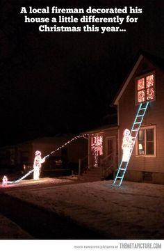 A Fireman's Christmas Decoration…@Amy Lyons Harward