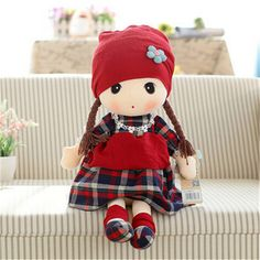 "3 Colors 1pcs New 40CM 15"" 60CM 23"" Plush Dolls Baby Children Best Stuffed & Plush Princess DollsToys for baby Gift A19"