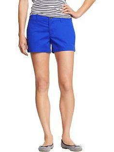 Old Navy Womens Everyday Printed Khaki Shorts 3 1/2