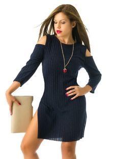 Vestido Jersey Azul Marino MS1742