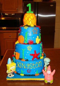 Who lives in a pineapple under the sea? By dmo4ab on CakeCentral.com