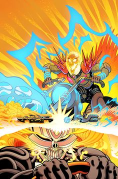 2018 things Drawn by Tradd Moore Star Wars Annual Colored by Matt Wilson Avengers - Cosmic Ghost Rider Vs. Ghost Rider Variant Colored by Felipe Sobreiro Dead Man Logan Variant Colored by. Marvel Comic Universe, Marvel Comics Art, Marvel Comic Books, Comics Universe, Marvel Heroes, Comic Books Art, Comic Art, Ghost Rider 2, Ghost Rider Marvel