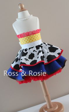 Jessie/Toy Story inspired Dress Up Costume Apron, Half Apron style. Made to Order Dress Up Aprons, Dress Up Outfits, Dress Up Costumes, Jessie Costumes, Everyday Princess, Toy Story Birthday, 2nd Birthday, Dresses For The Races, Princess Dress Up