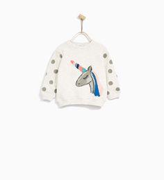 Image 1 of EMBELLISHED SWEATSHIRT from Zara