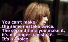 You can't make the same mistake