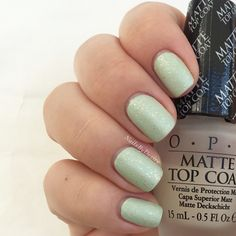 Opi - This Cost Me a Mint & Make light of the Situation. And Matte Top Coat. Soft Shades Pastels 2016