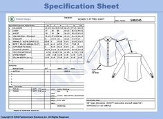 Tech Pack or Spec Sheet is all the information you'll use to give the manufacturer to make the garments. Every detail of the garment is illustrated on these documents