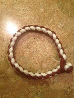 OU colors 4 strand round braid - $5.00