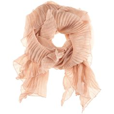 H&M Scarf (690 RUB) ❤ liked on Polyvore featuring accessories, scarves, pink, h&m, bufandas, women, pink shawl, ruffle scarves, sheer scarves and woven scarves