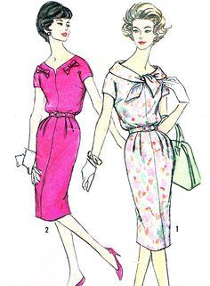 1950s Dress Pattern Simplicity 2968 Kimono Sleeve by paneenjerez, $18.00