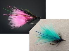 One fly, two fly; pink fly, blue fly! Did you know that marabou feathers come from white domestic turkeys?