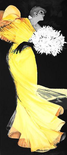 Rene Gruau fashion illustration