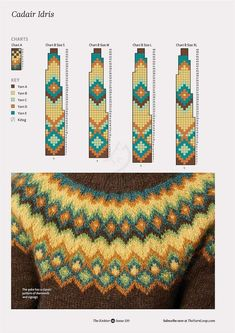 "Photo from album ""The Knitter on - Her Crochet Fair Isle Knitting Patterns, Knitting Charts, Sweater Knitting Patterns, Knitting Stitches, Knitting Designs, Knit Patterns, Free Knitting, Knitting Projects, Baby Knitting"