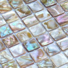Mother of Pearl Tile Backsplash fresh water Pearl Mosaic Tiling Kitchen Design discount Tiles Bathroom Mirrored Wall stickers $223.52