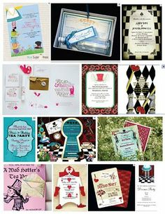 alice in wonderland homemade party favors | So I pulled a bunch of Alice in Wonderland themed invitations and ...