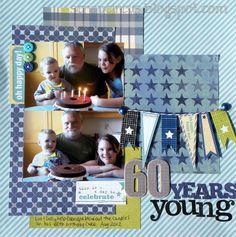 60 years young *Sketchabilities* - Scrapbook.com