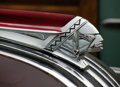 Pontiac hood ornaments, consistantly various on the theme of indian chiefs ...